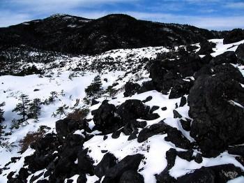 坪庭から見上げる北横岳