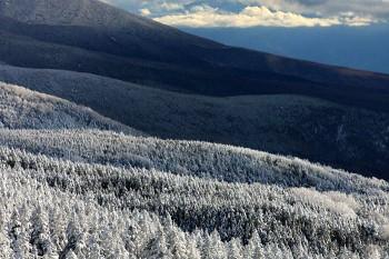 白くなった八ヶ岳山麓