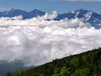 雲海と南アルプス