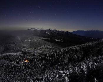 年始の月夜
