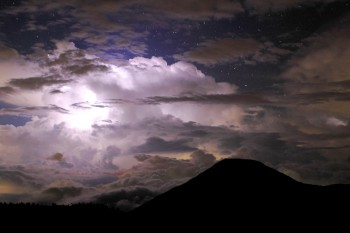 雷雲迫る夜