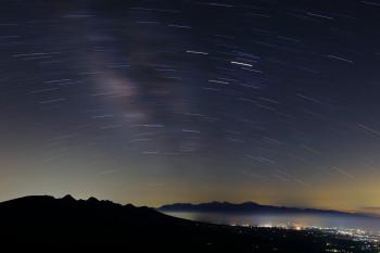 天の川(深夜1時頃撮影) Photo by Kenji Shimadate