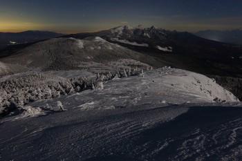 月影の八ヶ岳(3月14日撮影) Photo by Kenji Shimadate