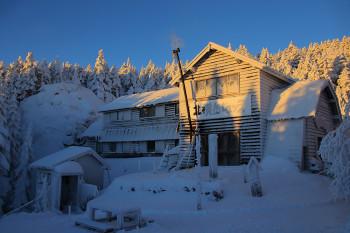 小屋付近の様子(1月12日撮影) Photo by Kenji Shimadate