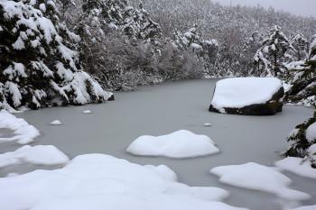 新雪の七ツ池(5月9日撮影) Photo by Kenji Shimadate