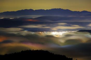 中央アルプスと茅野の夜景(5月19日撮影) Photo by Kenji Shimadate